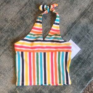 Hanna anderson striped bikini halter